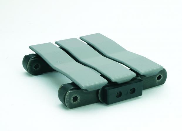 Slat conveyor chain segment